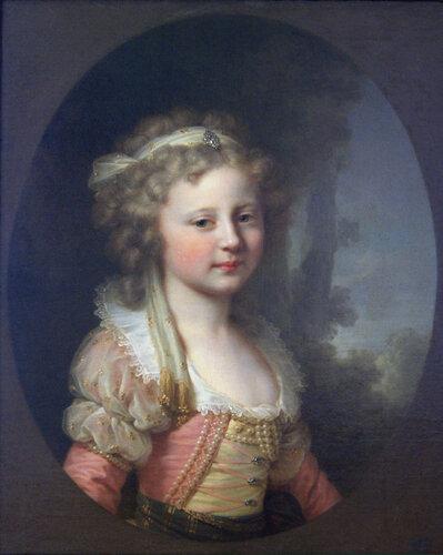 И.Б. Лампи Старший (1751-1830). Портрет великой княжны Елены Павловны