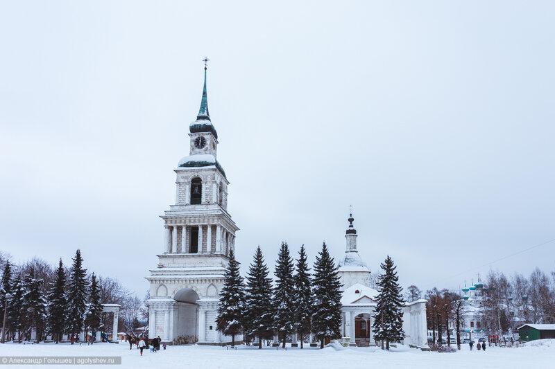 Слободские куранты зимой