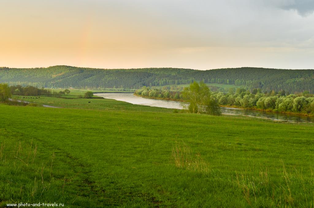 Вечер над башкирской рекой.