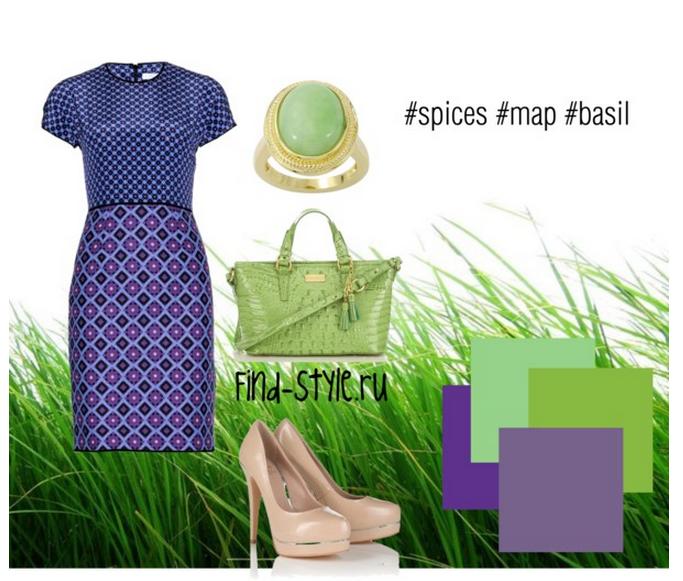 карта пряностей, базелик, вкусные цветовые сочетания, модные тенденции