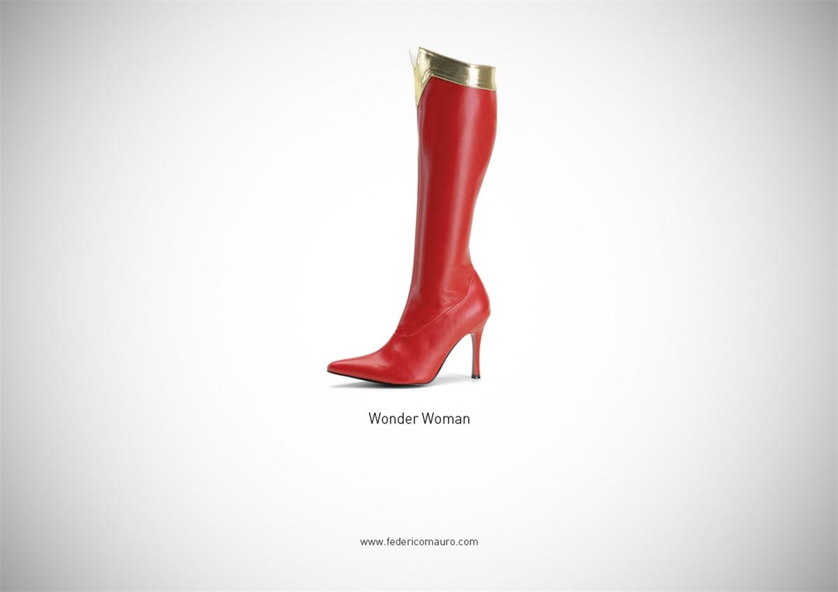 Знаменитая обувь культовых персонажей / Famous Shoes by Federico Mauro - Wonder Woman