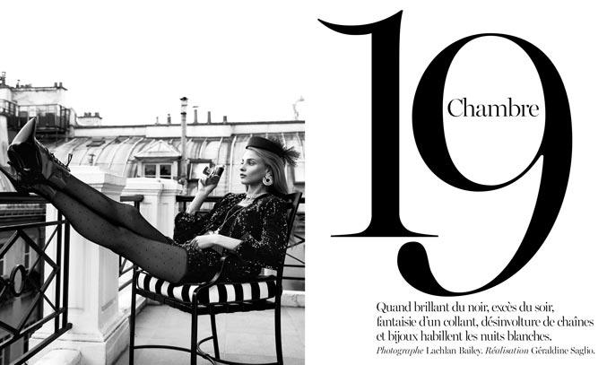 Анна Селезнева / Anna Selezneva by Lachlan Bailey in Vogue Paris december 2013 / january 2014