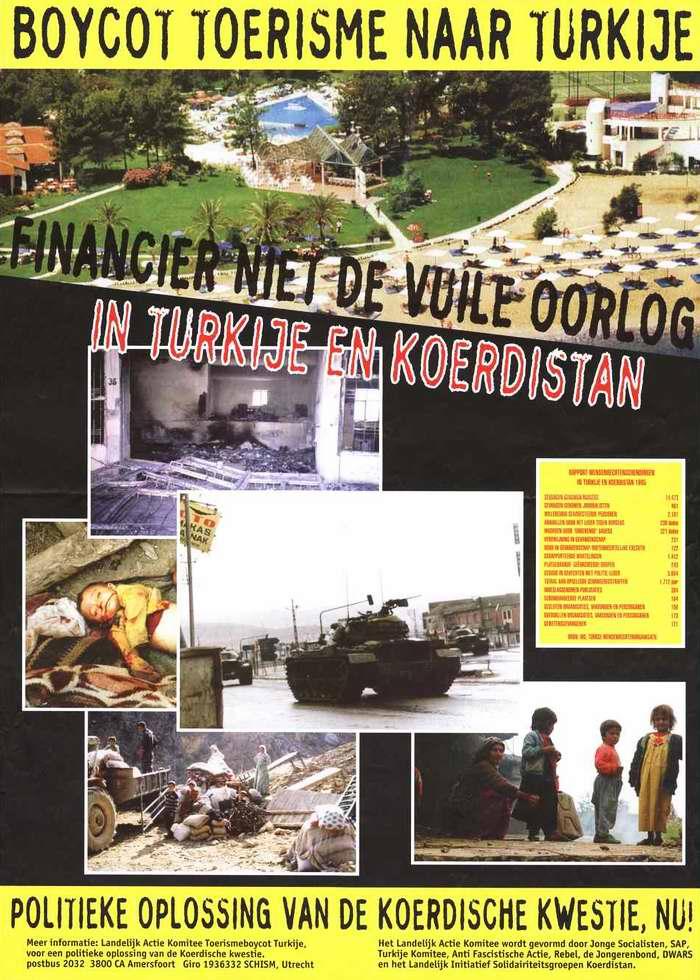 Бойкот туризма в Турцию. Нет финансированию грязной войны Турции в Курдистане