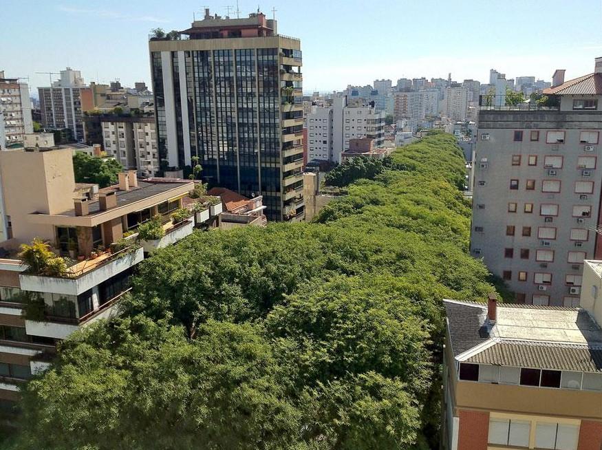 Улица в бразильском городе Порту-Алегри