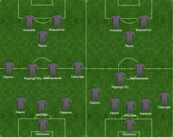 «Реал» использовал схему 3-5-2