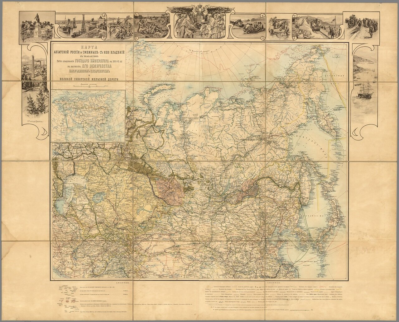 Карта Азиатской России и смежных территорий