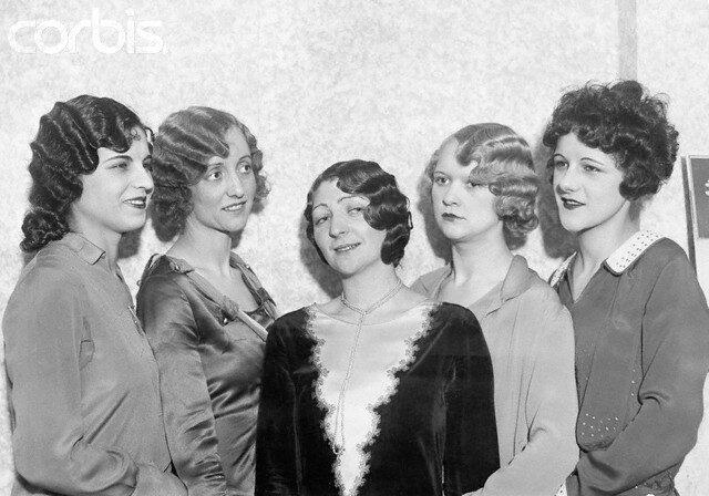 Five Women Modeling 1920s Hairstyles