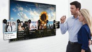 Samsung позволил управлять телевизорами движением пальца