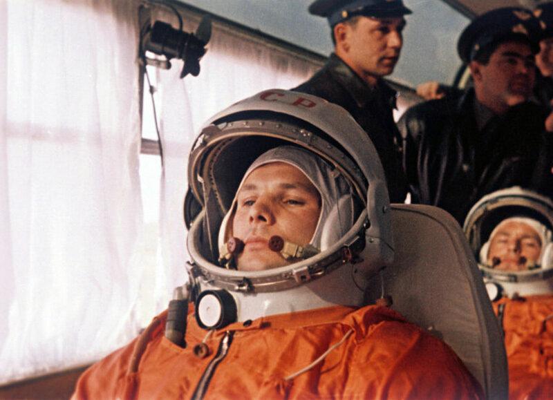 Встреча первого космонавта