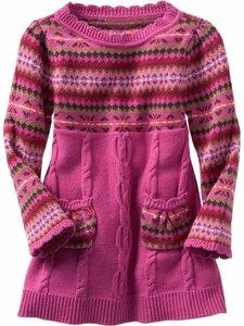 Жаккарды для девчонок (платья спицами)