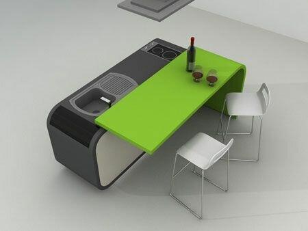 Компактная кухня с умным дизайном