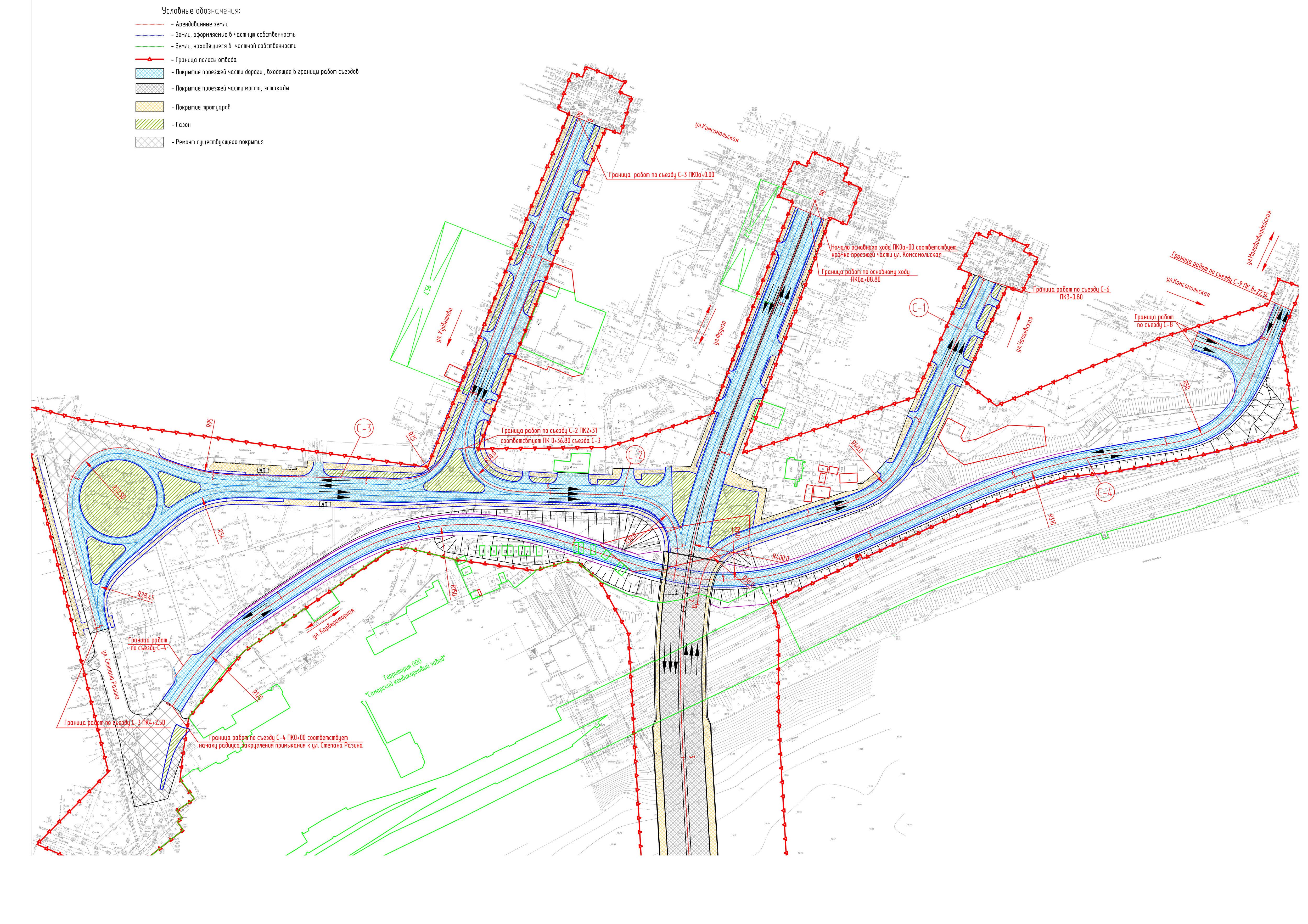 схема строительства моста через волгу южный обход