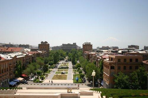 вид на Ереван и Арарат