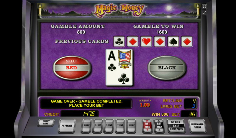 magic money slot double win