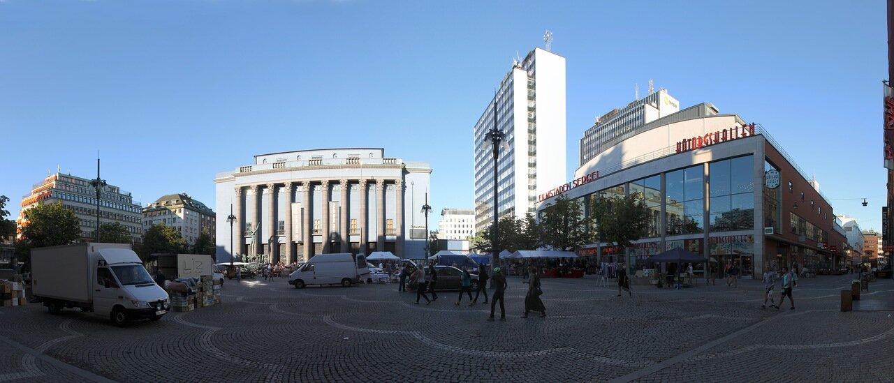 Стокгольм, Сенная площадь, Stockholm, Hötorget, panorama.
