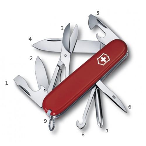 комплект инструментов в ноже Victorinox 1.4703 Super Tinker