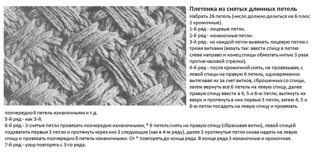 Вязание спицами узоры схемы узор плетенка 879