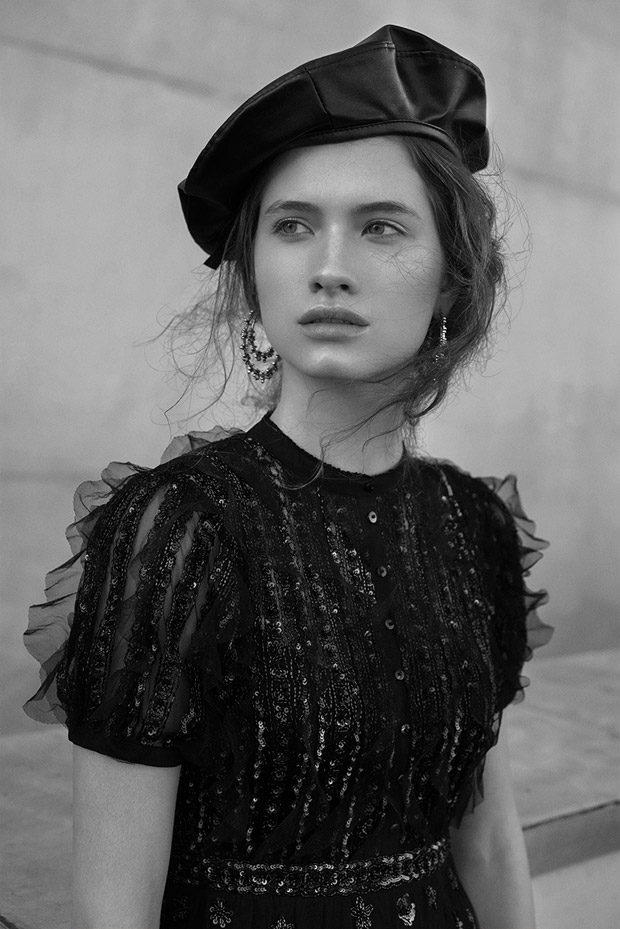 Dress: Needle & Thread Hat: Zara Earrings: Bershka