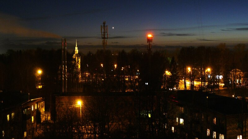 вечерний пейзаж с Венерой