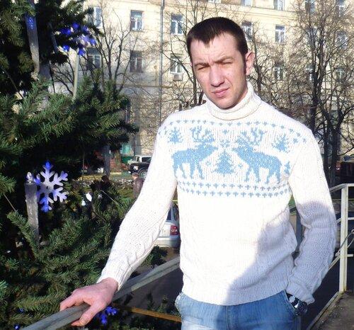 свитер с оленями,вязание на заказ Москва,