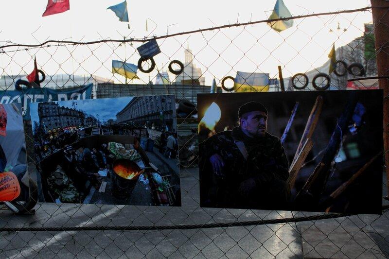Фотографии на баррикаде