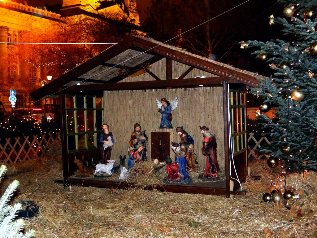 Рождественский вертеп на площади Свободы