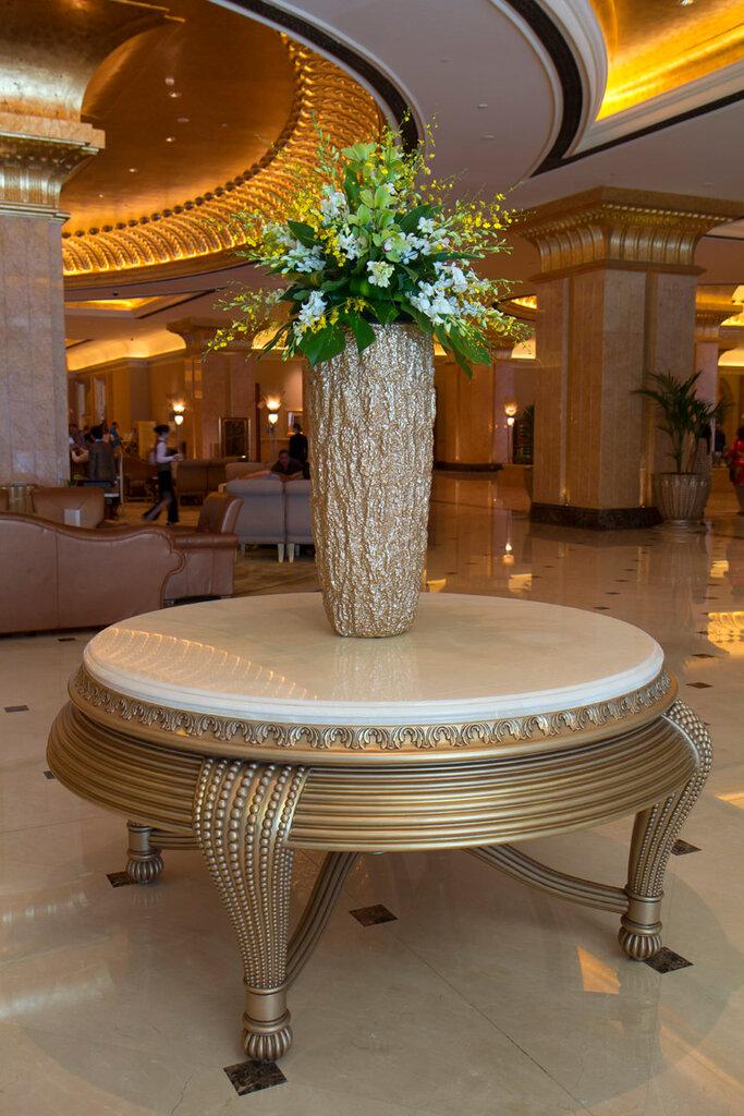 O interior do hotel.  UAE