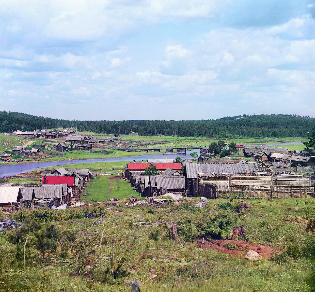 Окрестности Екатеринбурга. Общий вид деревни Палкино (с юга-запада