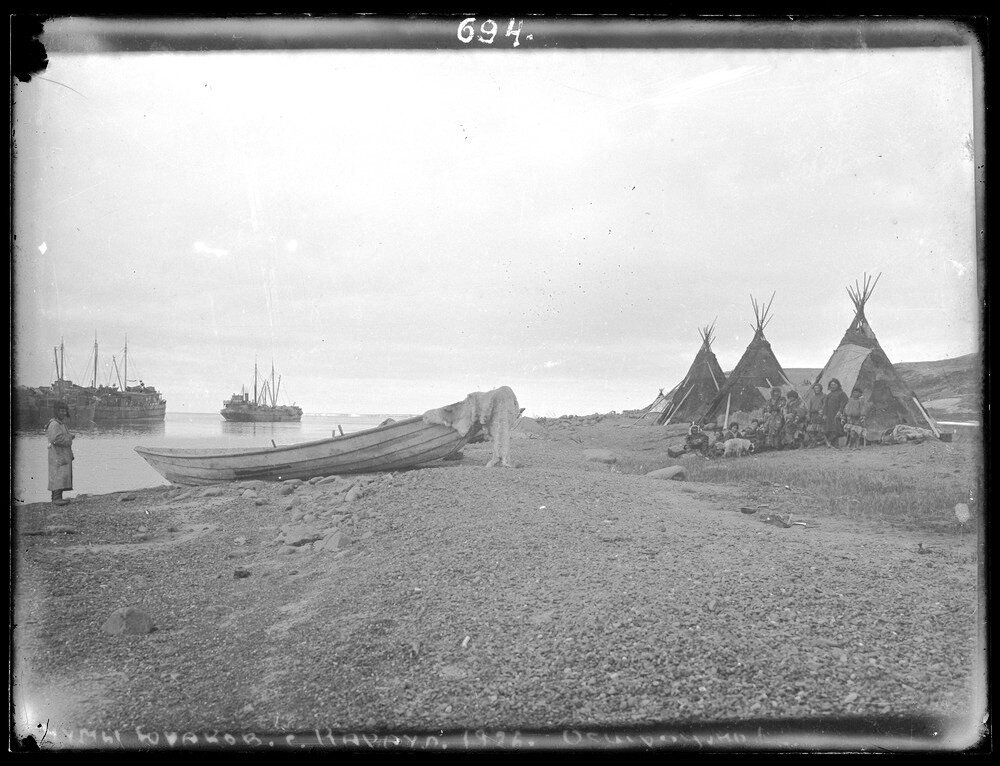 1926. Чумы ненцев. Село Караул,Таймыр