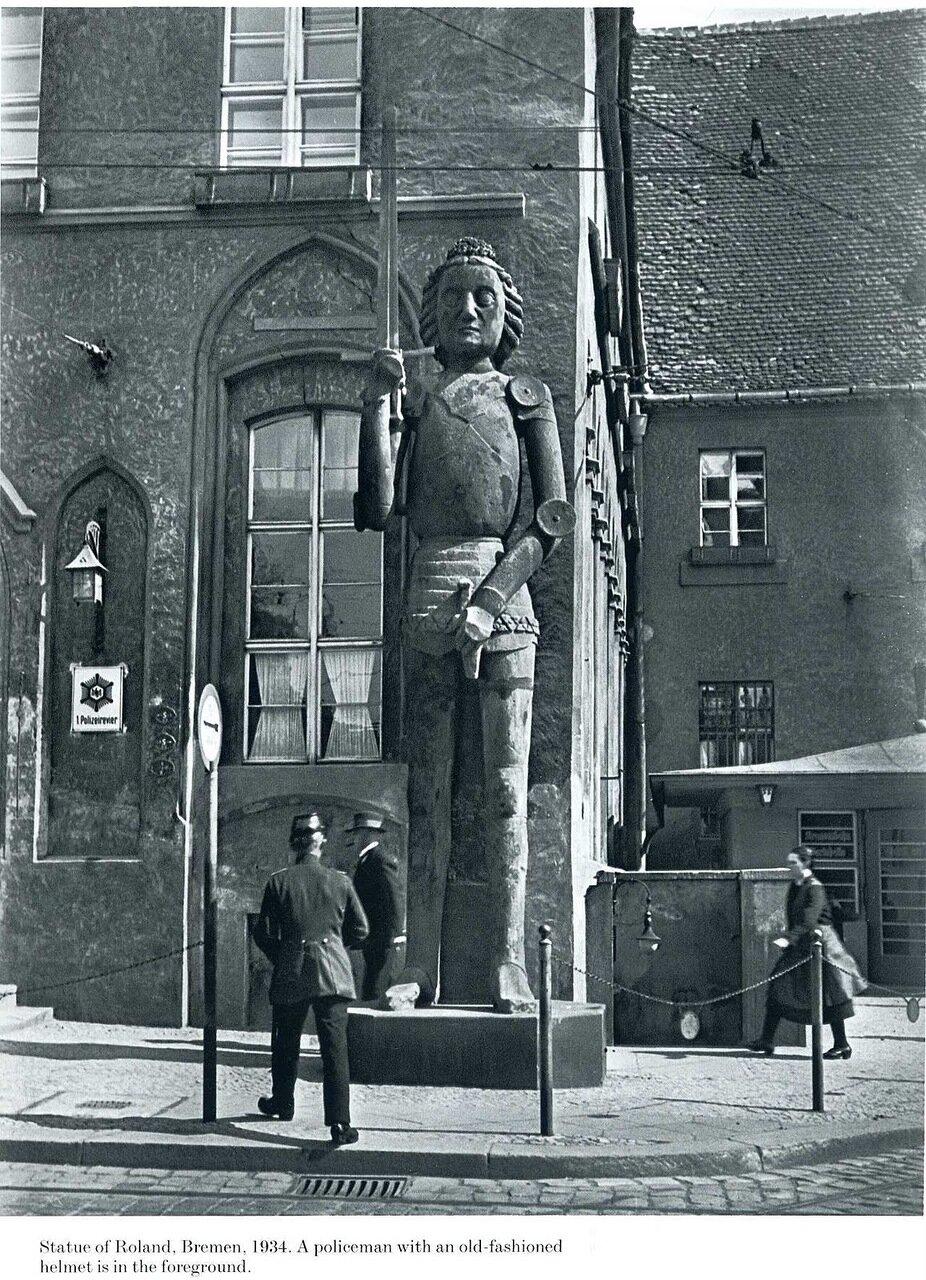 1934. Статуя Роланда, Бремен