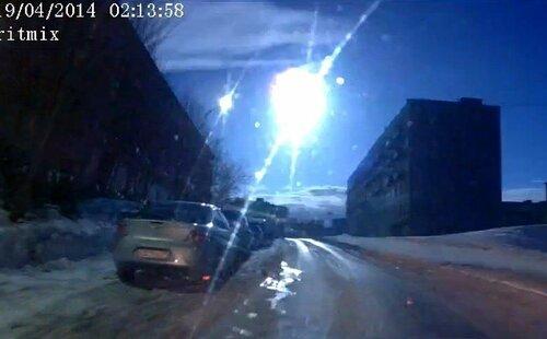 Метеорит в Мурманске (1 фото + 1 видео)