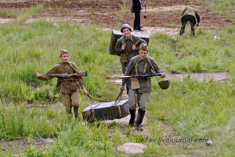 Юные красноармейцы. 22 июня, реконструкция начала ВОВ в Кубинке (2 часть)