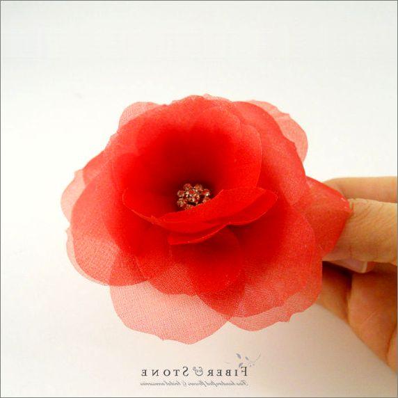 Цветы и украшения из ткани