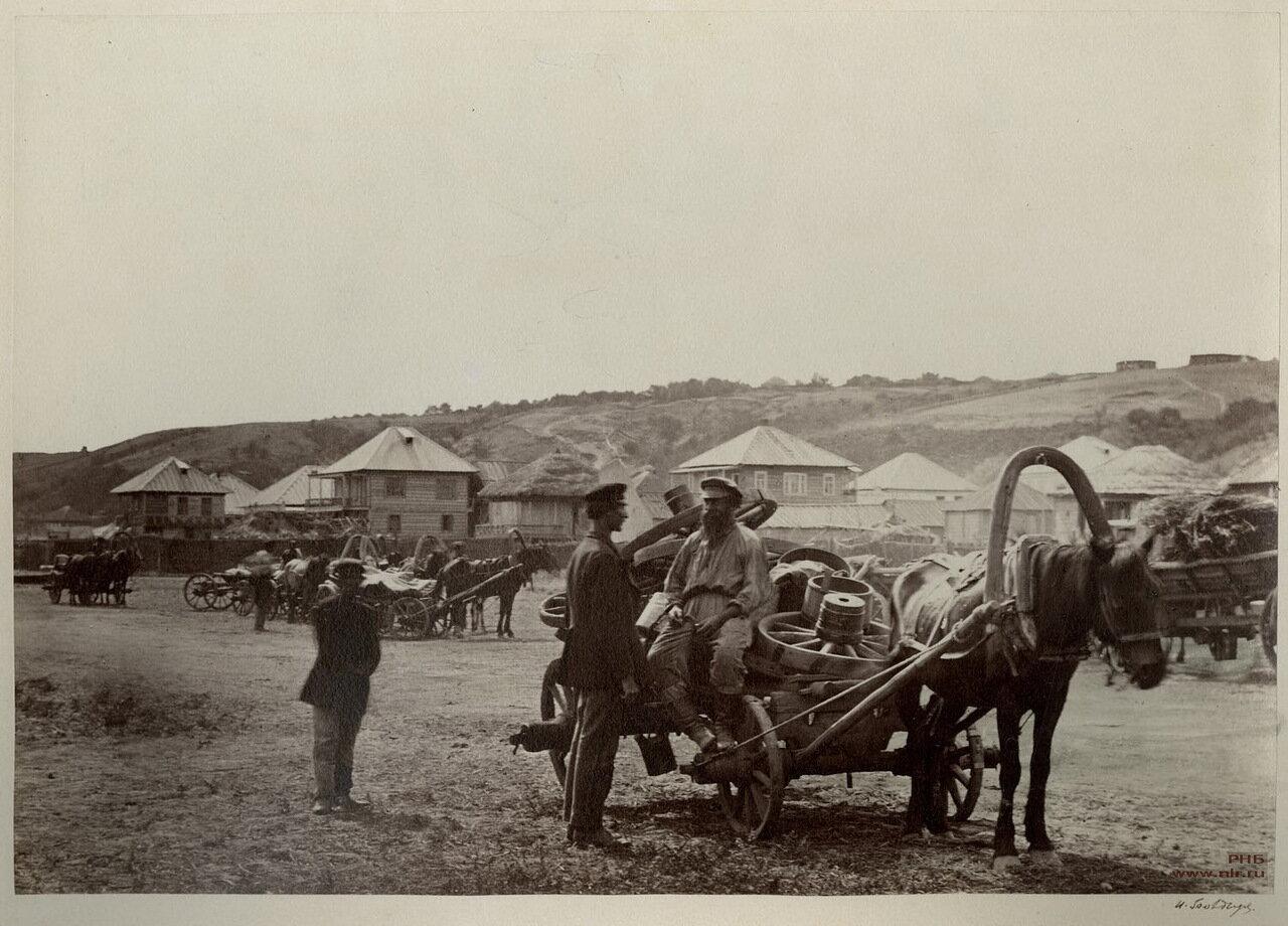 Возвращение казаков с ярмарки в Цымлянскую станицу. 1875-1876