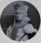 Княгиня В.М. Кудашева (урожденная Нирод) в костюме боярыни XVII века. Портрет.