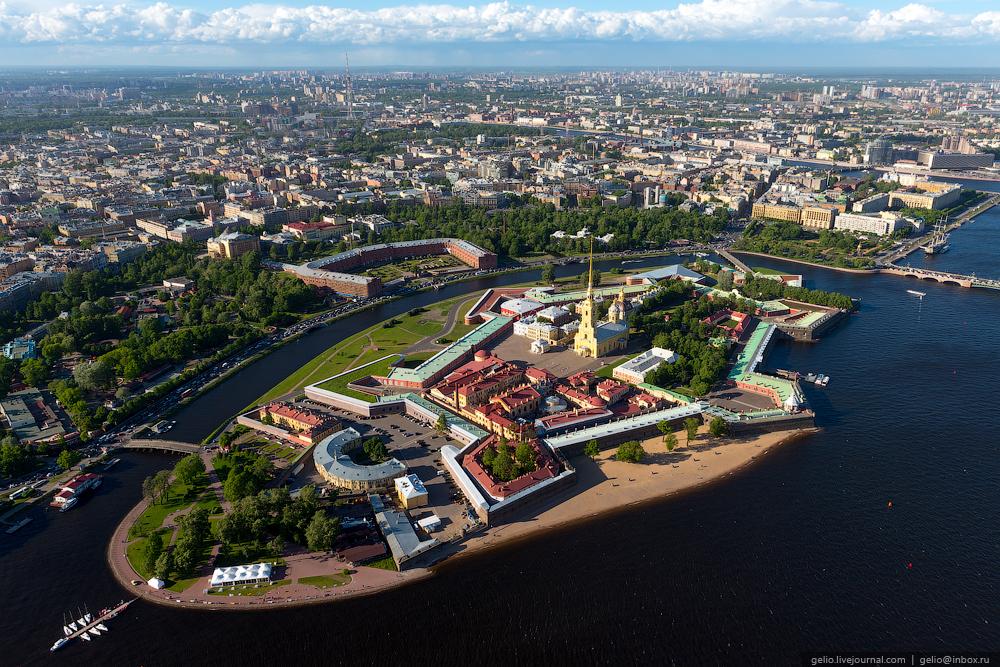 фото города санкт петербург сверху