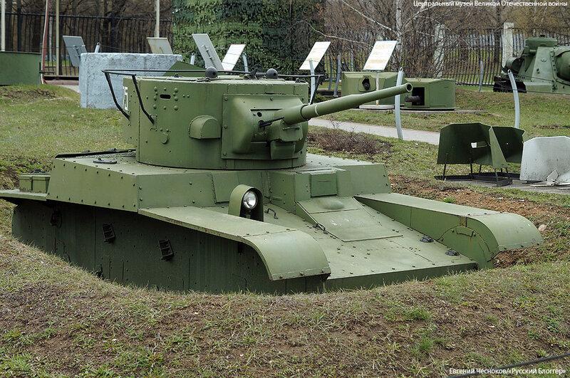 12. Музей ВОВ. 21.04.15.22.огнеметный танк Т-46-1..jpg