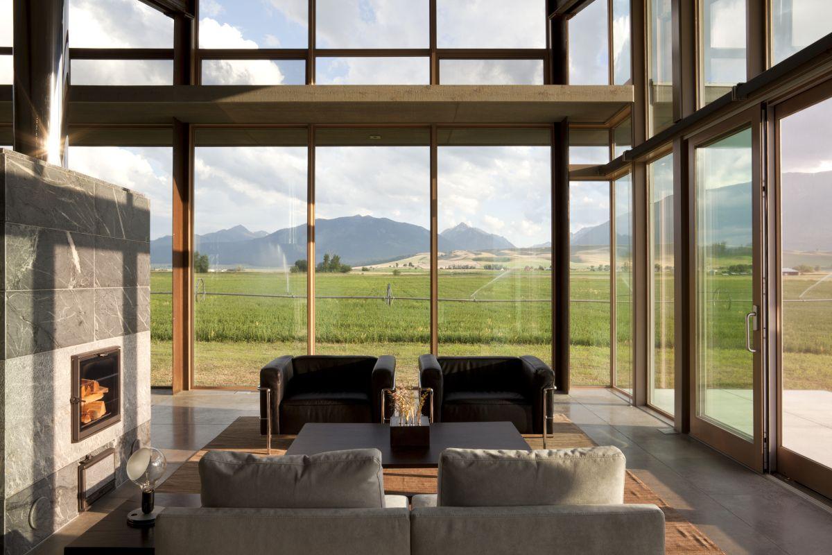 Olson Kundig Architects, дома в штате Орегон, обзоры частных домов, лучшие частные дома США, The Glass Farmhouse, энергоэффективный частный дом