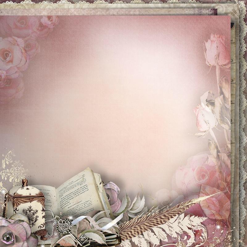 【背景挂件分隔线素材篇】漂亮的模板背景素材 第4辑 - 浪漫人生 - .