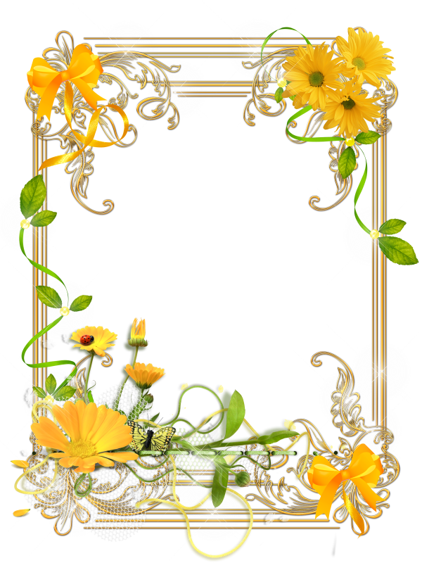 Картинки рамки открыток желтые