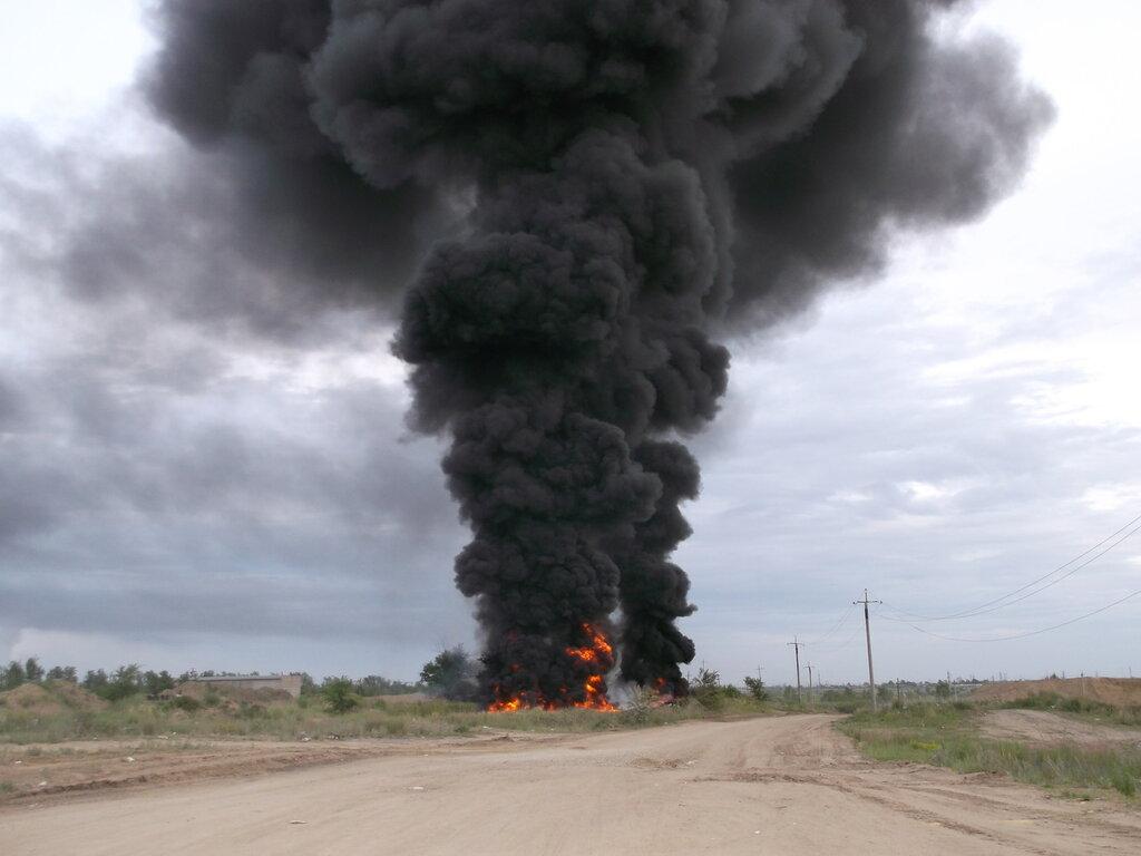 Ещё несколько фото пожара в песчаных карьерах