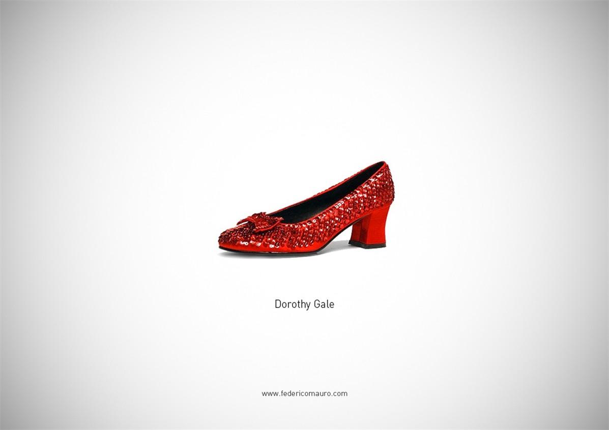 Знаменитая обувь культовых персонажей / Famous Shoes by Federico Mauro - Dorothy Gale