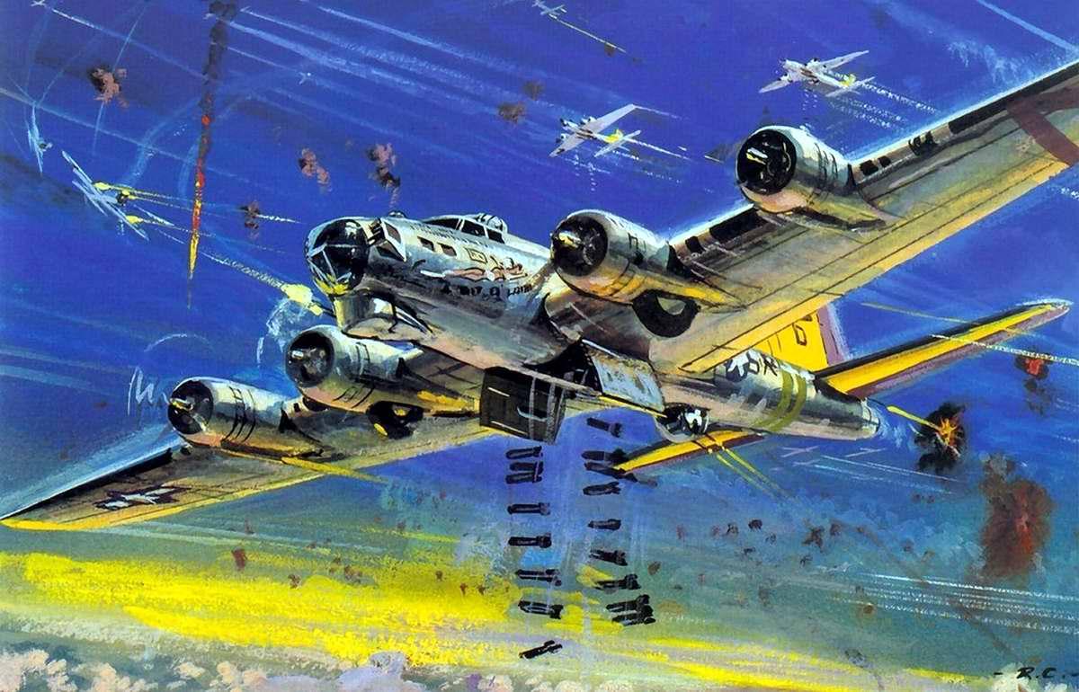 Американский тяжелый бомбардировщик B-17 Flying Fortress