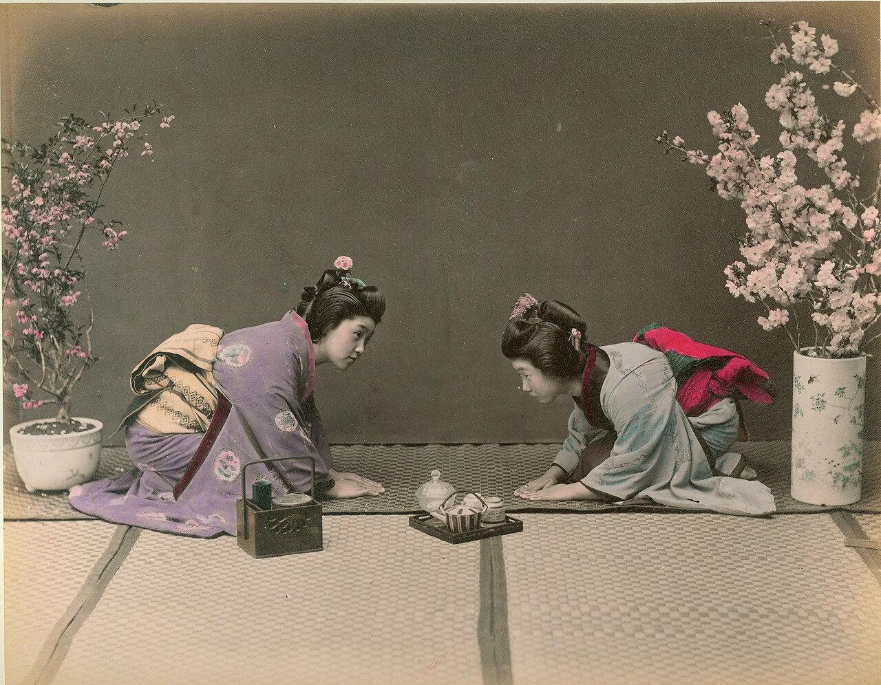 Чайная церемония. 1875