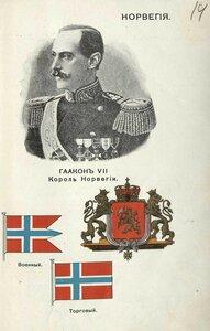 14. Норвегия. Хокон VII, король Норвегии