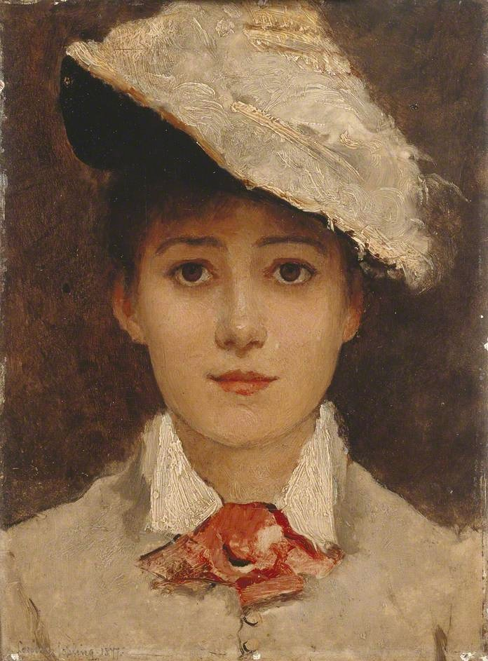 Автопортрет, 1877,Louise Jopling (1843-1933)