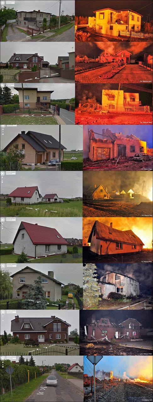 В Польше взорвался газовая станция. Фото до и после