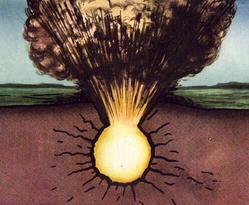 Как выглядит подземный ядерный взрыв с поверхности (видео)