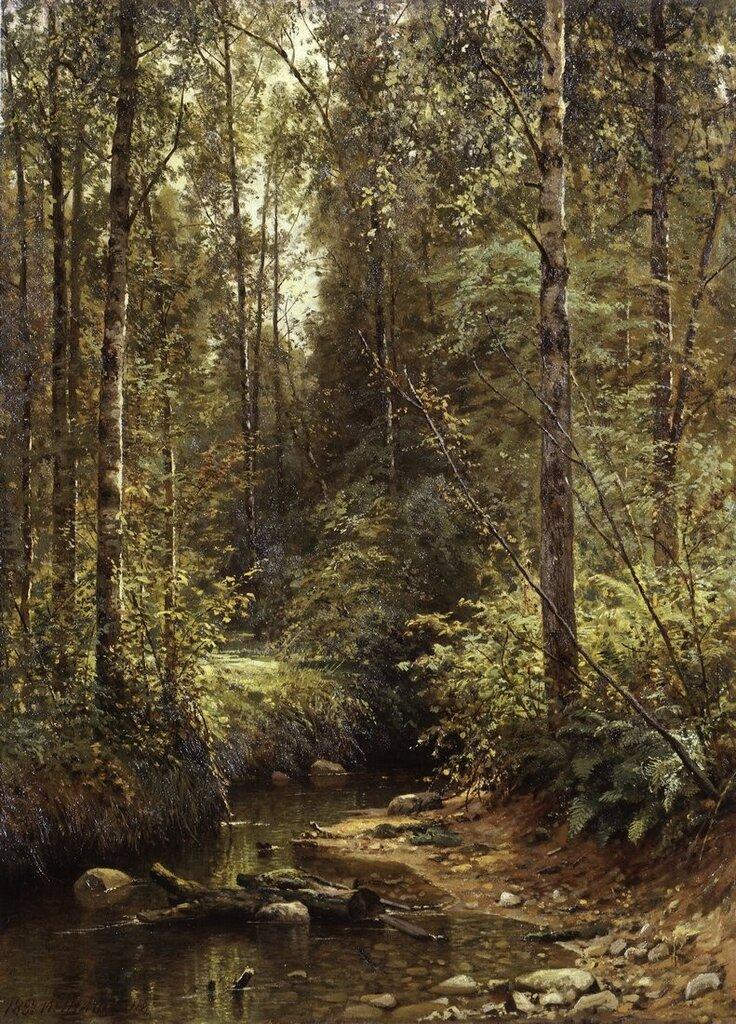 Лесной ручей. 1882 93,7х68,6.jpg