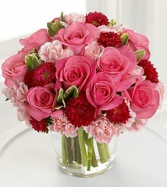 Букетик роз открытка поздравление картинка